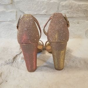BAMBOO Shoes - Rose Gold Heels - Bamboo